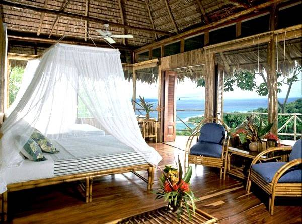 Enjoy ocean views from this beach bungalow on the Osa Peninsula