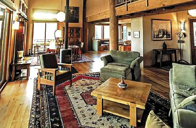 Interior of wine country rental