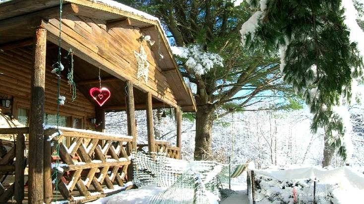 mountain rental new york state romantic getaway with snowfall surrounding rental