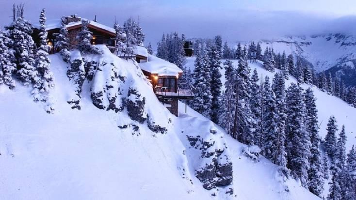 romantic winter cabin getaways in Telluride, Colorado with this mountain rental