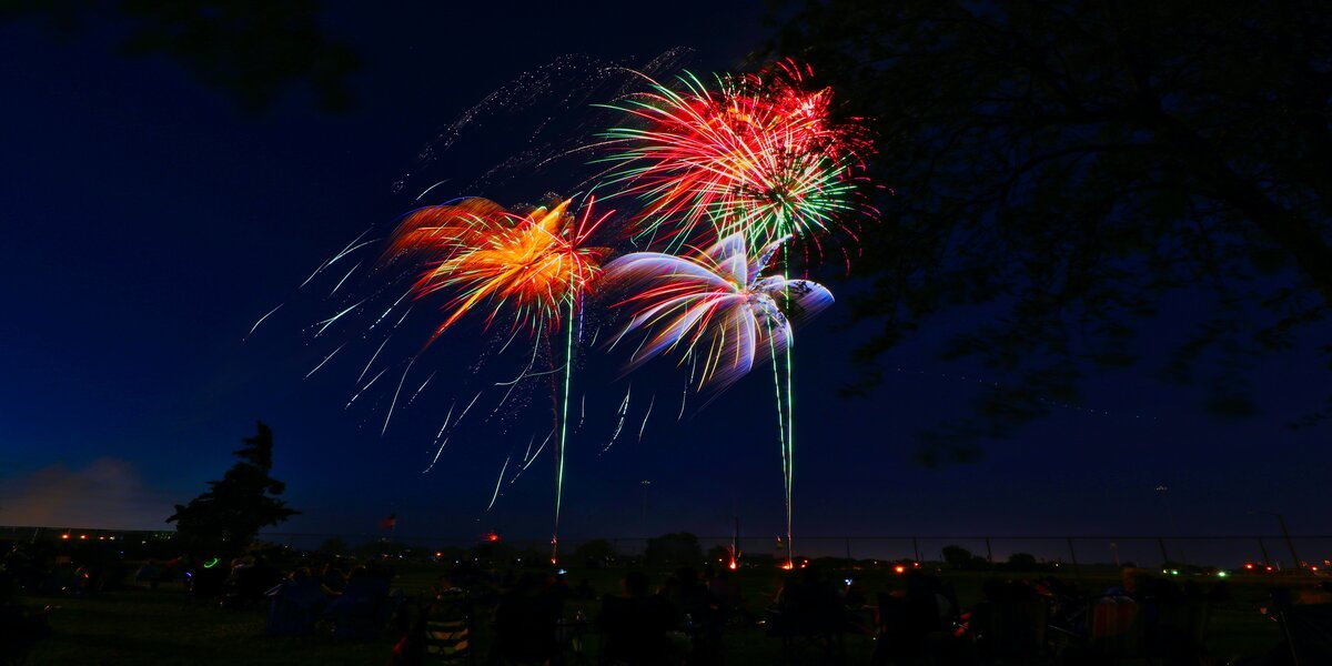 fireworks exploding in the sky for nye
