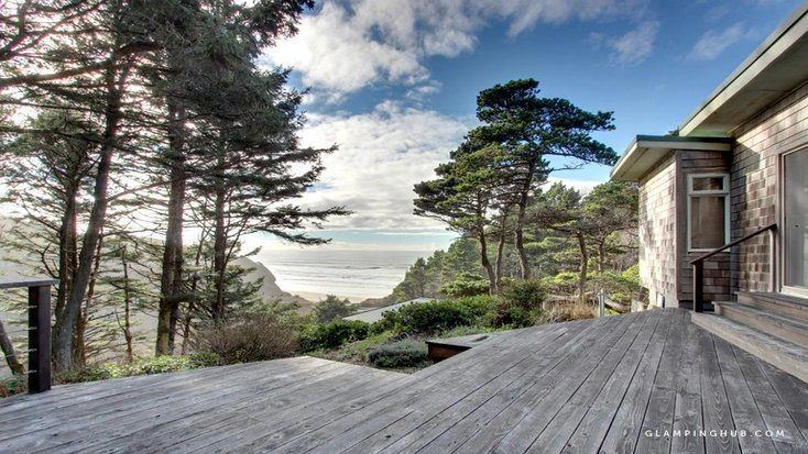 View of the ocean from one of the best beachfront rentals Oregon can offer