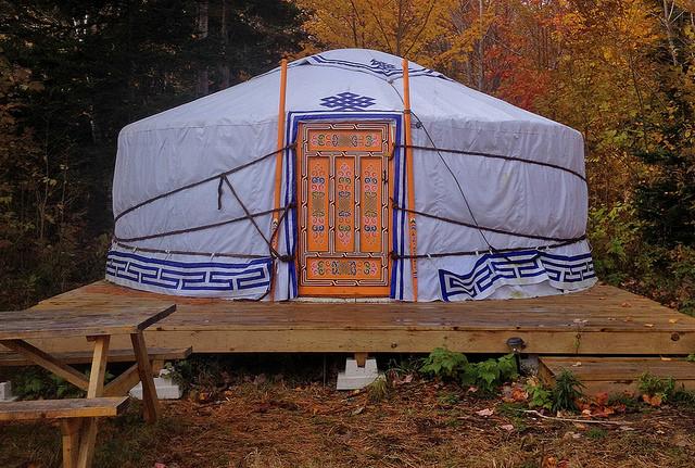 Yurt camping rental in Nova Scotia and one of the best winter getaways in Canada.