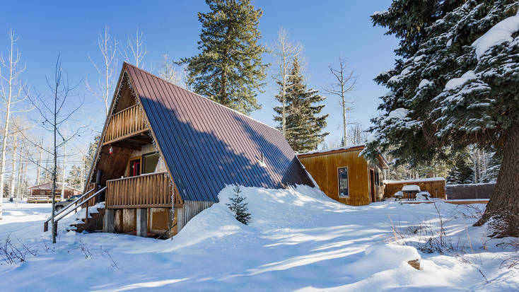 Stay in this A-frame rental near Durango, Colorado, for an unforgettable vacation.