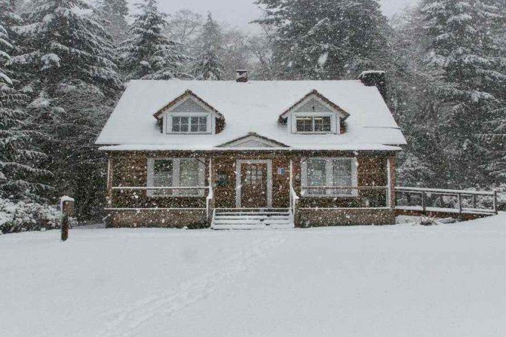 luxury winter cabin rental, maine glamping 2020 awaits here