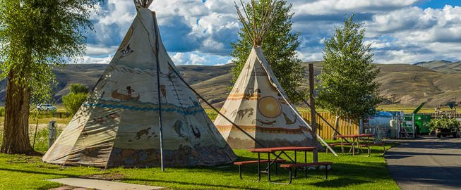 Book a tipi rental for a stay near Blue Mesa Lake