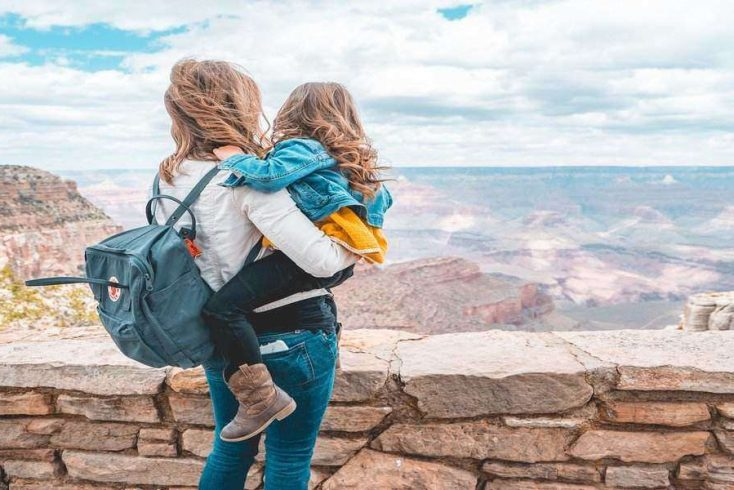 woman and daughter enjoying Arizona vacation , USA