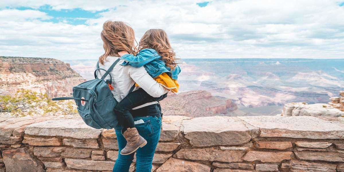 woman and daughter enjoying Arizona vacation , USA