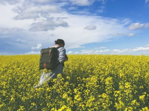 woman on her way to the best easter holiday destinations