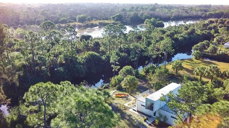 Sky view of Loxahatchee River: Florida vacations 2021