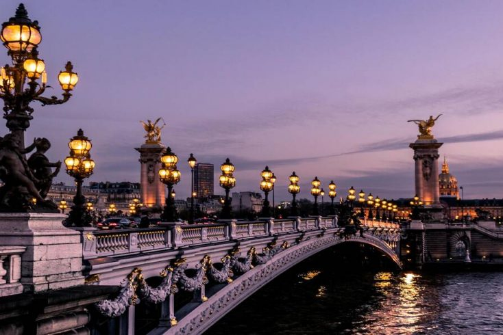 Beautiful views of bridge in Paris: vacation ideas 2021