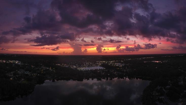 Sunset over Tampa, Florida: camping rentals
