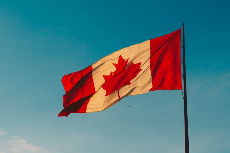 canada flag representing one of best North America destinations for travel