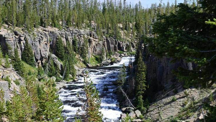 image of yellowstone national park, and a trip here being the best gifts for retired parents