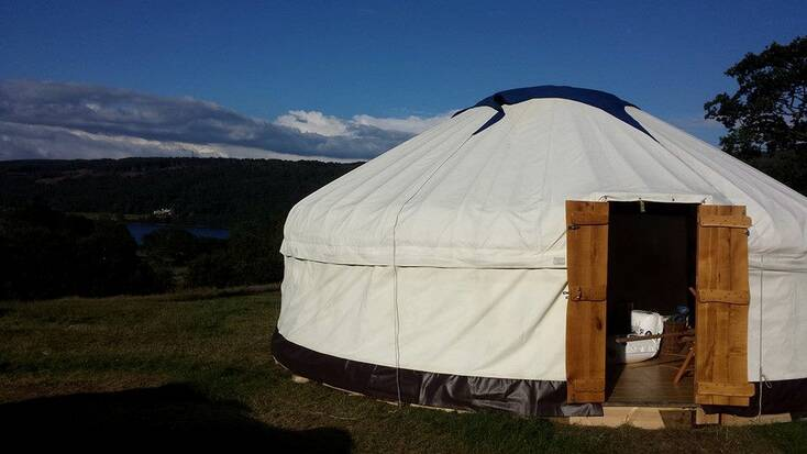 Yurt rental for lakeside camping in the Lake District