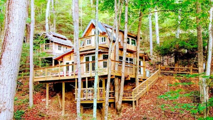 A cabin in the woods near Asheville, NC