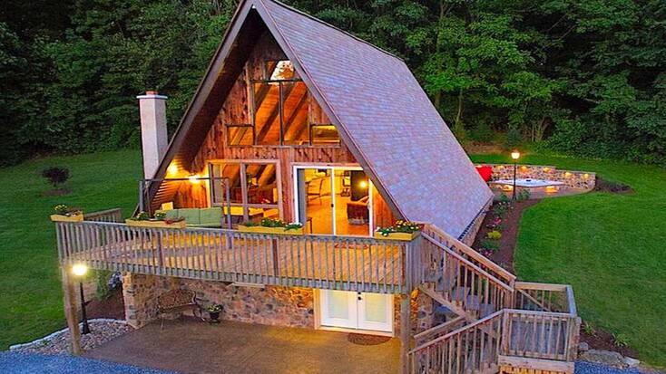 A-frame cabin near Lancaster, PA