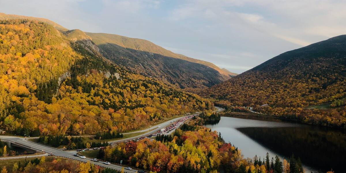 Forest viws for New Hampshire getaway vacation