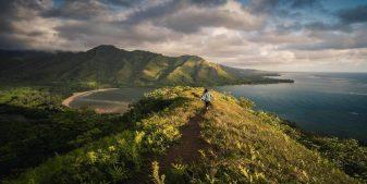 girl visiting volcano national park hawaii