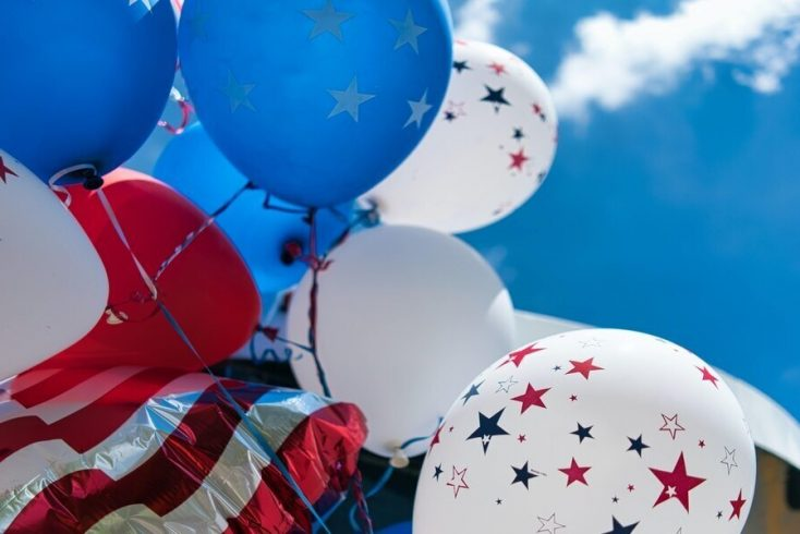 Baloons used to celebrate 4th July