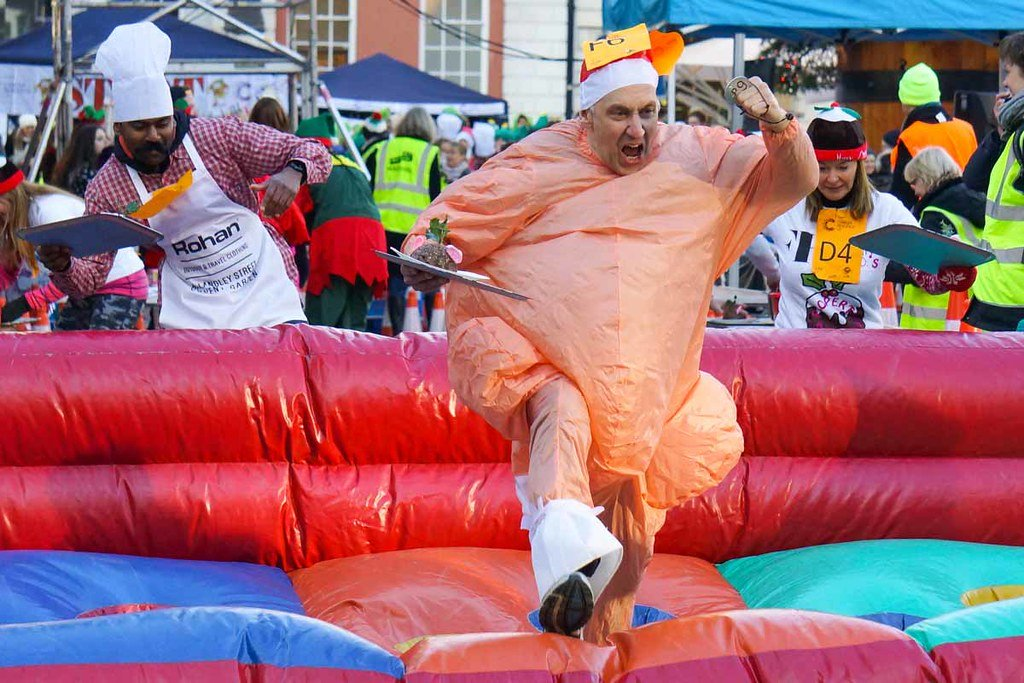 The Great Covent Garden Christmas Pudding Race is an annual charitable event