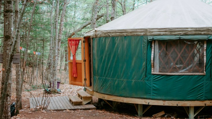 Recently renovated yurt and one of the best Christmas gifts for couples luxury camping