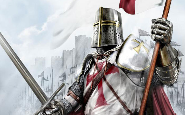 An image of the Knights Templar, who were betrayed by the king of France on Friday the 13th October, 1307