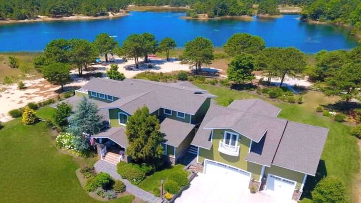 Spend Friday the 13th in this lakeside vacation rental