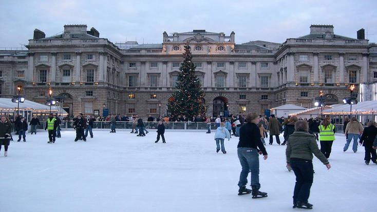 Enjoy icce skating when you spend Christmas in London