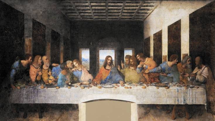 The Last Supper by Da Vinci famously depicts 13 people eating together the day before Good Friday.