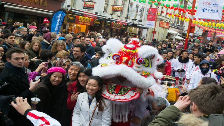 Celebrations in Chinatown, London