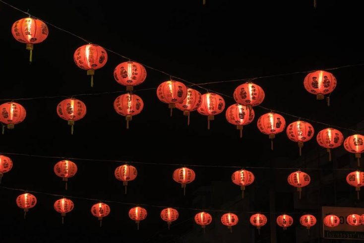 Traditional lanterns to celebrate Chinese New Year, 2020