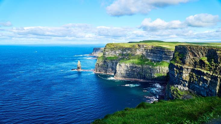 The Cliffs of Moher are a highlight of the Irish countryside.