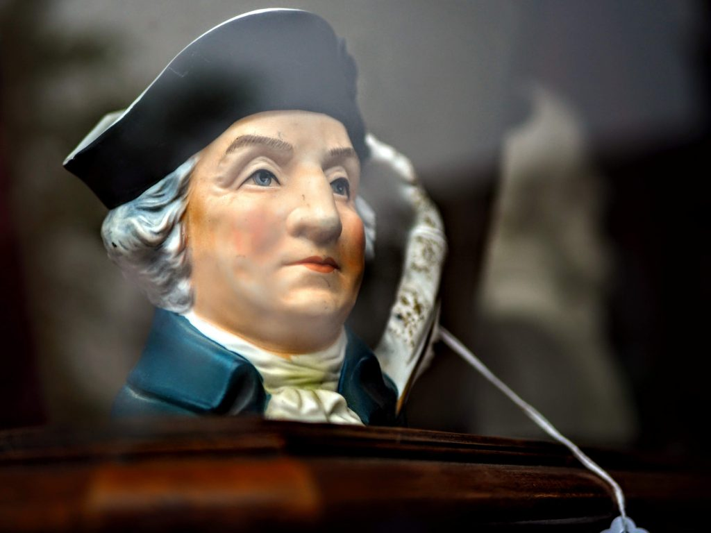 Small ornament of George Washington on Presidents' Day  Weekend