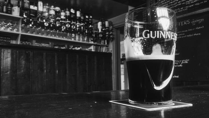 Enjoy a pint of Guinness on St. Patrick's Day