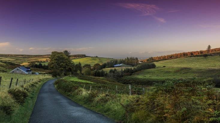 take a road trip through the Irish countryside.