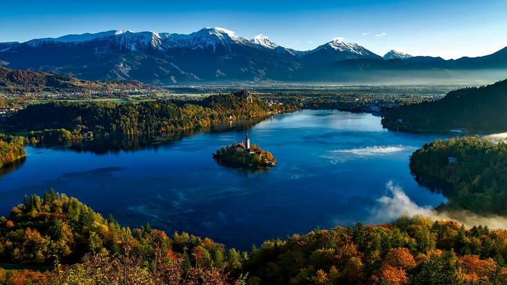 The stunning Lake Bled is a unique place to travel to when visiting Slovenia