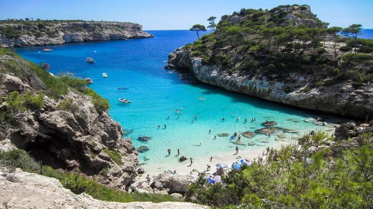 Enjoy the golden sandy beaches on Mallorca