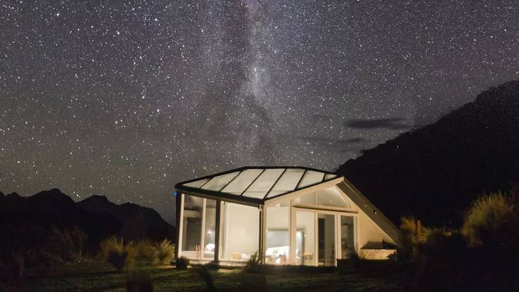 Enjoy some unique glamping in New Zealand.