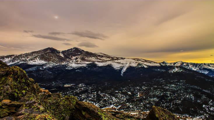 Shot of the Rocky Mountain National Park at dawn, one of the best natural wonders in the US today.