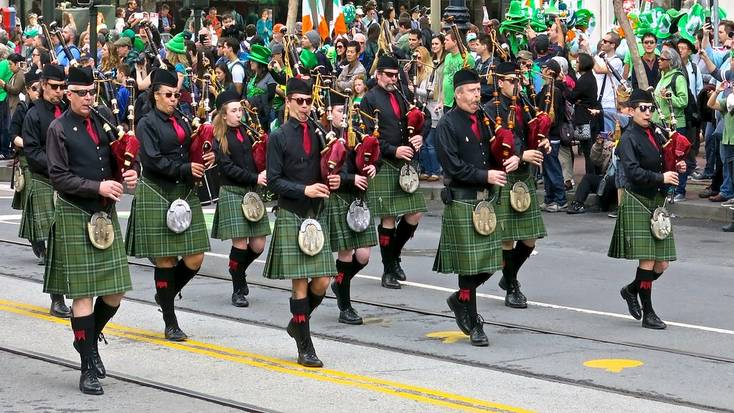 Enjoy the annual Paddy's Day parade in San Francisco, California