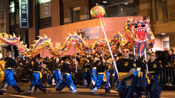 Spring Festival parade in San Francisco