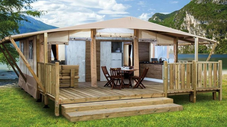 A safari tent for couples in Sicily, Italy for a romantic Valentine's Day getaway.