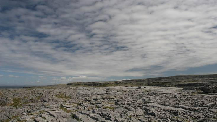 Visit the Burren, a rock covered piece of Irish countryside