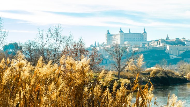 View of the cathedral in Toledo, one of the very best honeymoon destinations in Spain.