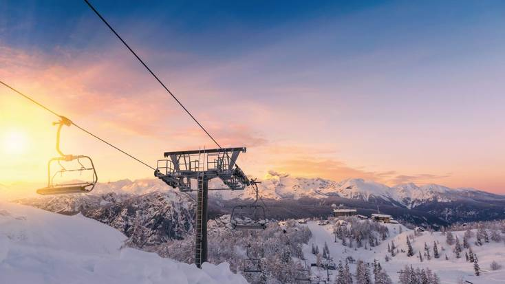 Ski resorts like Vogel in Slovenia are perfect for cheap ski holidays this half term