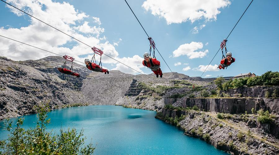 Try the world's fastest zipline when you visit Snowdonia