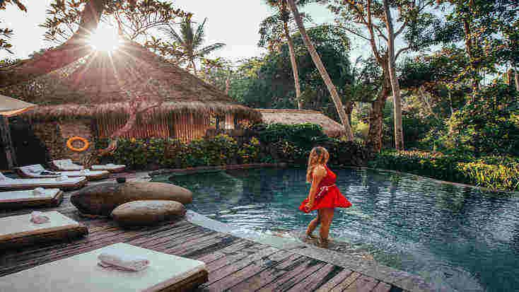 One of the best wellness retreats is this five star accommodation in Bali