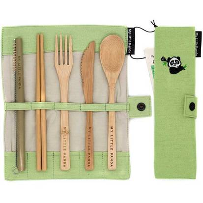 Take eco-friendly products like bamboo cutlery with you on your trips