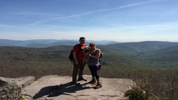 Enjoy spectacular views with your dog in the Catskills